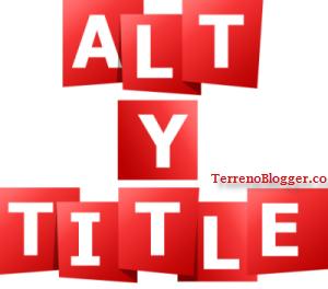 Atributos Alt y Title, Blogger