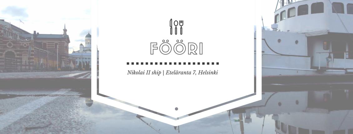 Pop-up restaurant Fööri