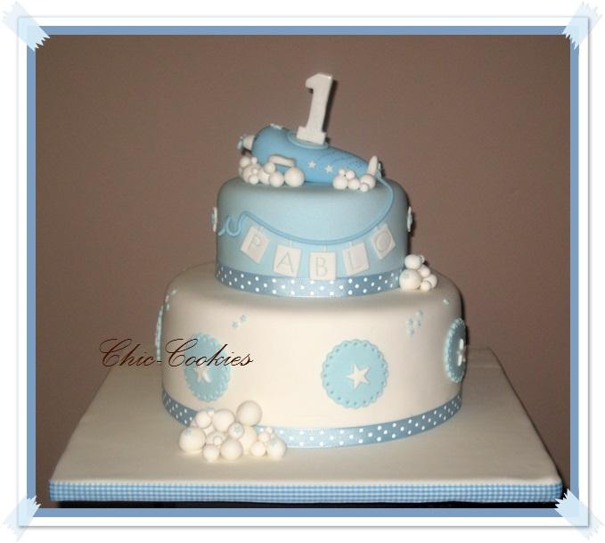 Chic cookies tarta de cumplea os para pablo - Feliz cumpleanos bebe 1 ano ...