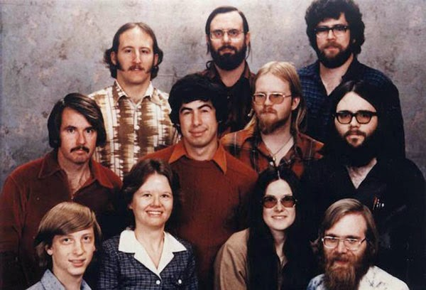 Rarest Historical Photos, That you can Never Forget. - A photo of The Microsoft staff in the year 1978
