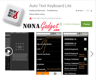 Review Auto Text Keyboard Lite Fire Keys