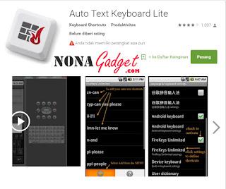 Review Auto Text Keyboard Lite Fire Keys