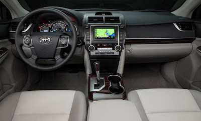 Interior of the Toyota Camry for 2012