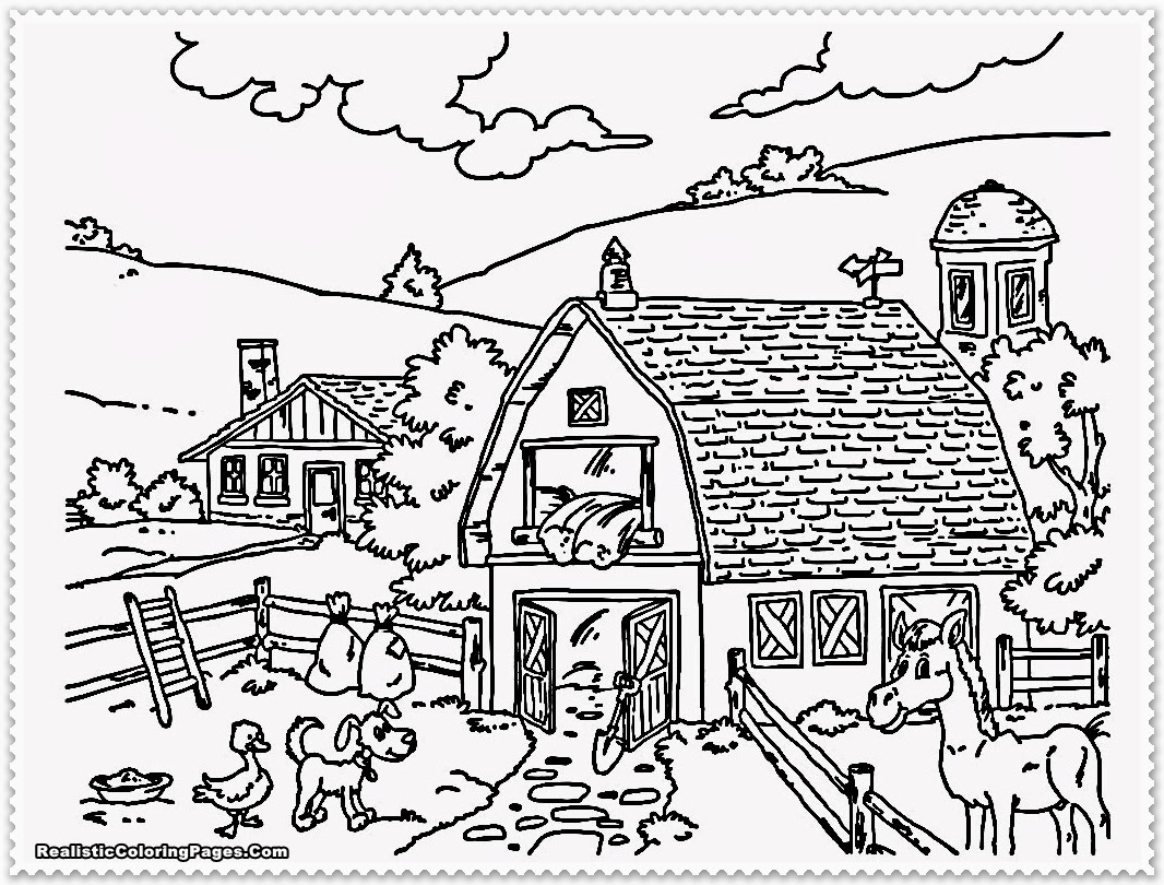 Farm Animal Coloring Pages Realistic Coloring Pages Farm Coloring Pages Printable