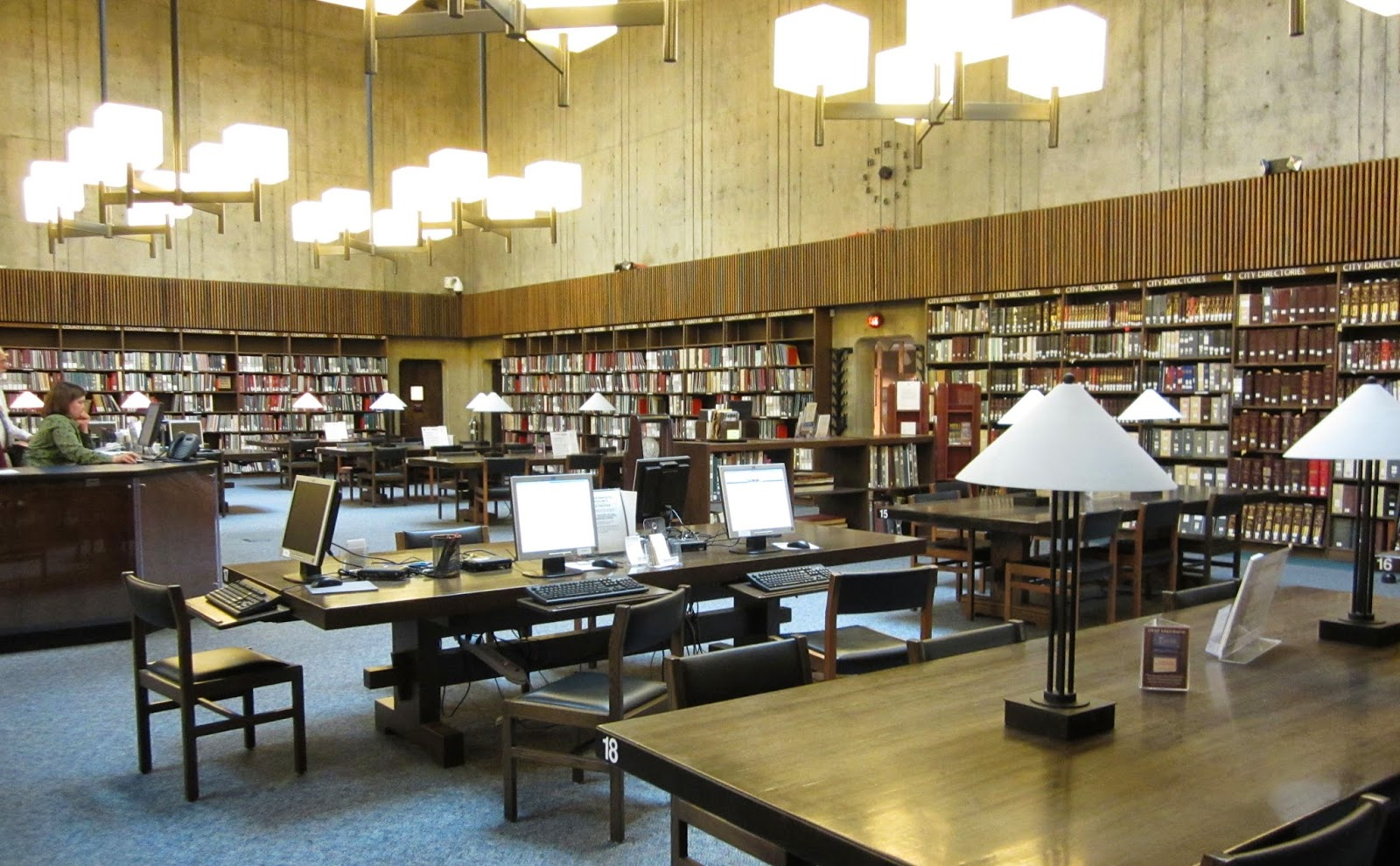 Ohio History Center genealogy research room