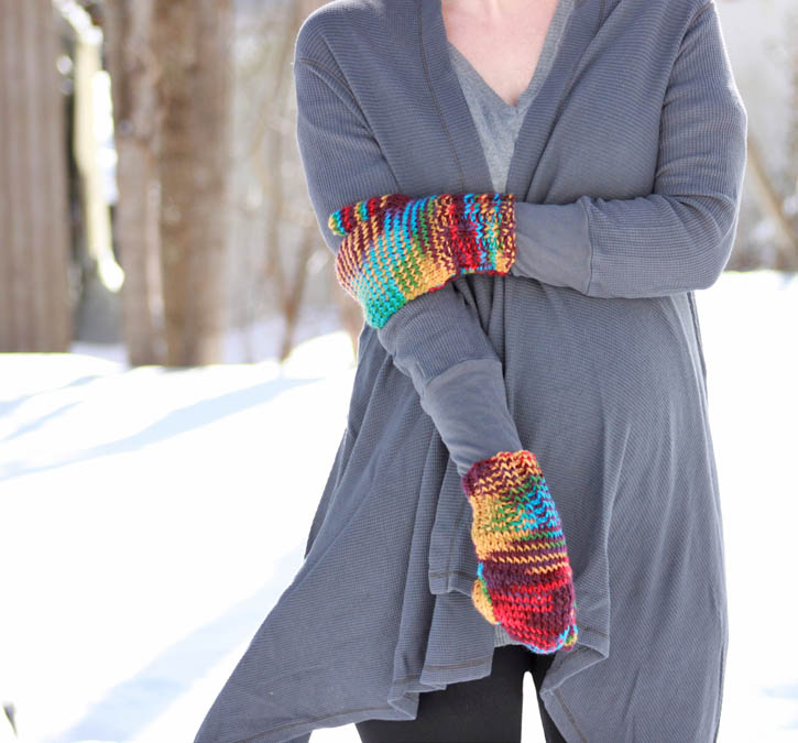 Knitting Cast Stitches Beginning Row : Beginner Thumb Mittens [knitting pattern] - Gina Michele