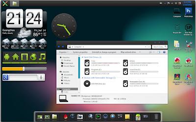 Android Jelly Bean skinpac portable , windows 7  , حول شكل ويندوز 7 الى شكل نظام اندرويد