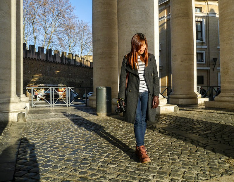 outfit while visiting the vatican