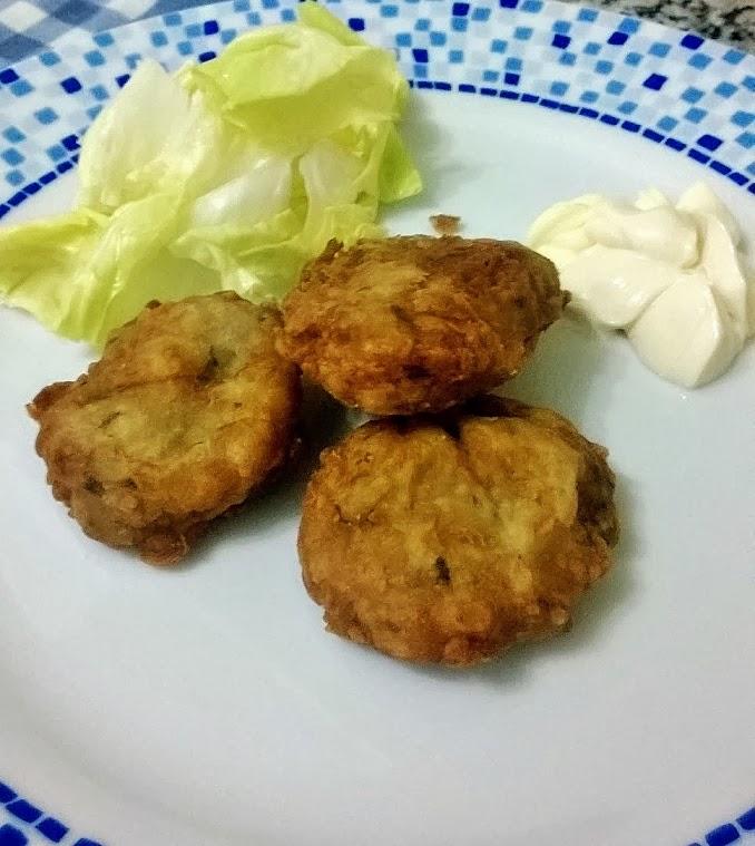 frittelle speziate di patate viola