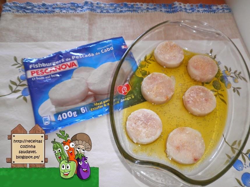 Fishburgers com Molho de Marisco