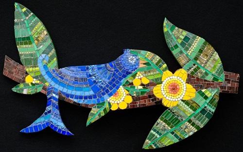 decorative mosaic paintings by Irina Charny
