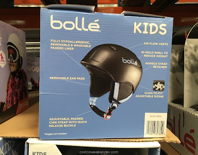 Use the Bolle Jr Kids Ski Helmet to prevent head injuries for kids