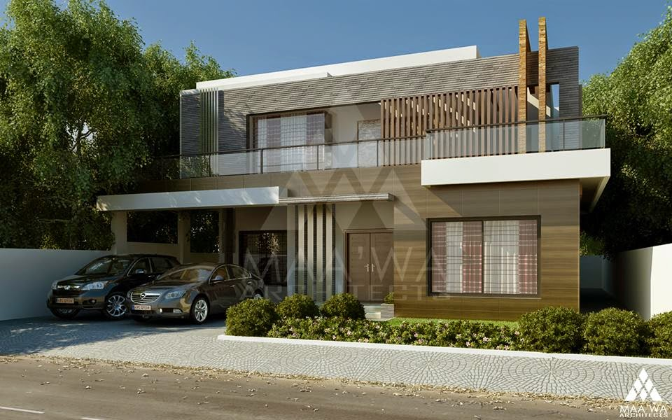 Front Elevation Of 1 Kanal House : One kanal house at dha eme lahore d front design