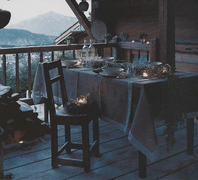 Côte Est Dec-Fev 2001-2002, alfresco dining, mountain air as seen on linenandlavender.net