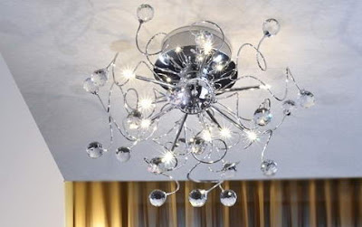 buy Crystal 9-light Iron Ceiling Light