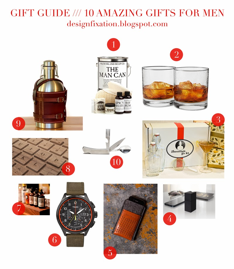 Design Fixation: Gift Guide /// Manly Man Gifts For The Guys In ...