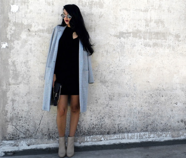 grey coat outfits pinterest