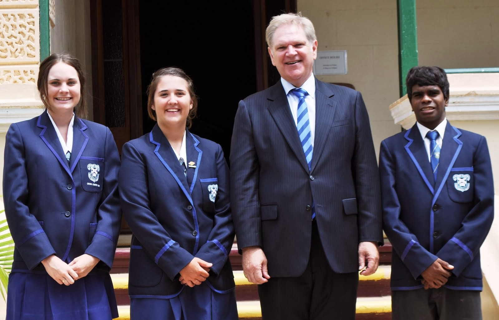 2014 House Captains with Mr Fairbairn