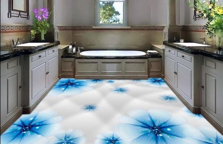 3D Floor On Kitchen 4