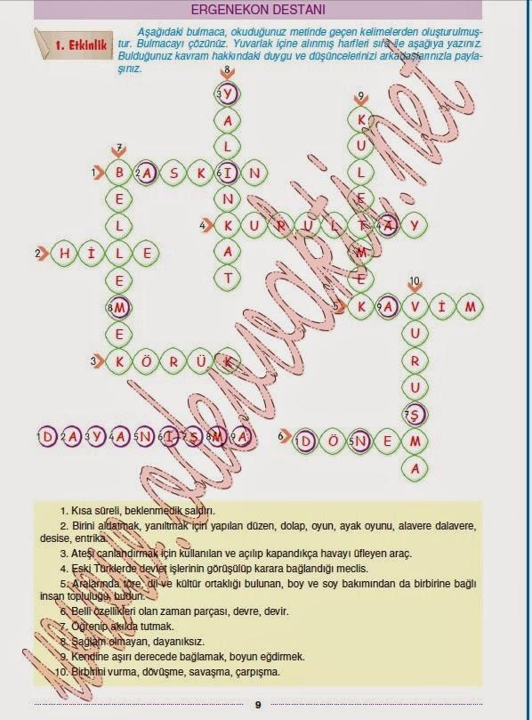 Dersi yıldırım yayınları çalışma kitabı cevapları sayfa 9