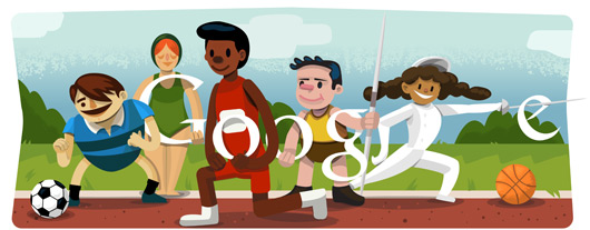 Google Doodle For The London Olympics