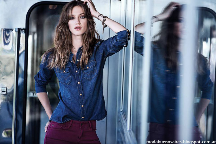 Moda jeans invierno 2014 Wrangler