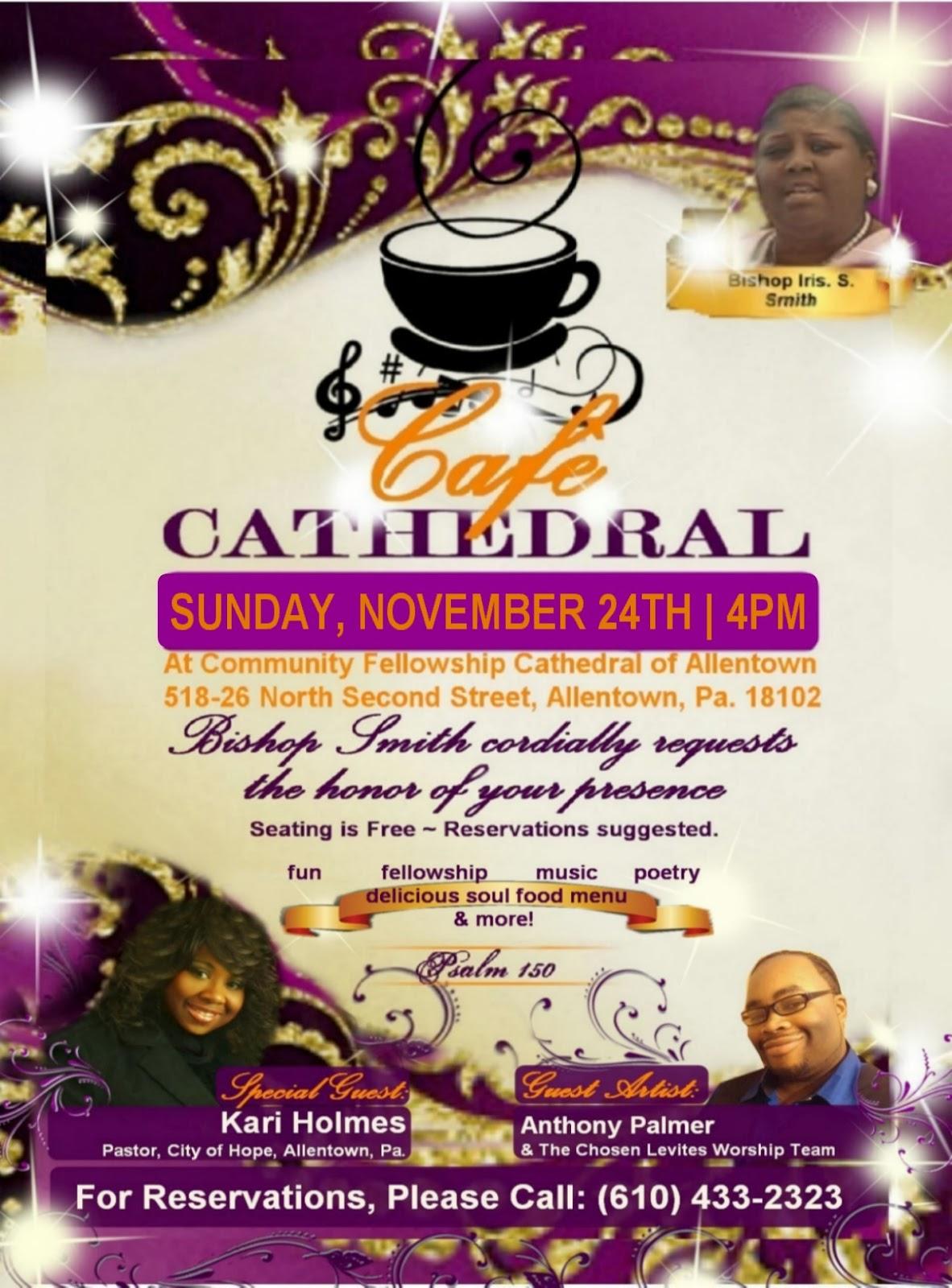 Cathedral Cafe Menu