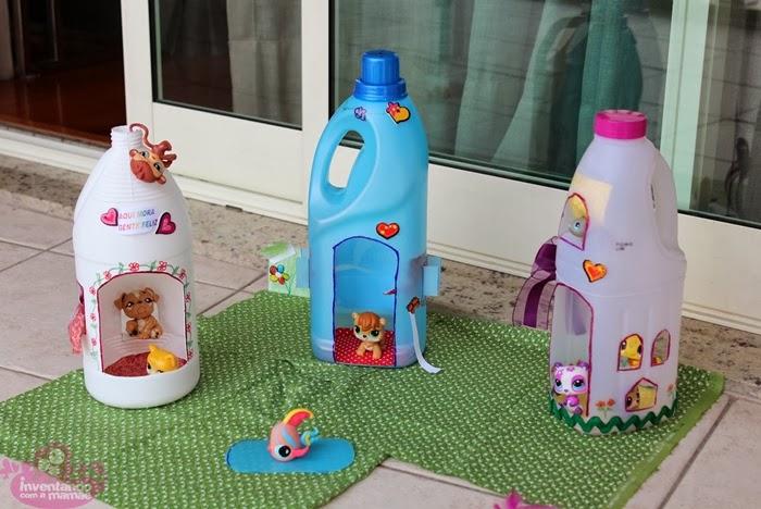 Diy plastic bottle doll houses diy craft projects - Diy projects using plastic bottles ...