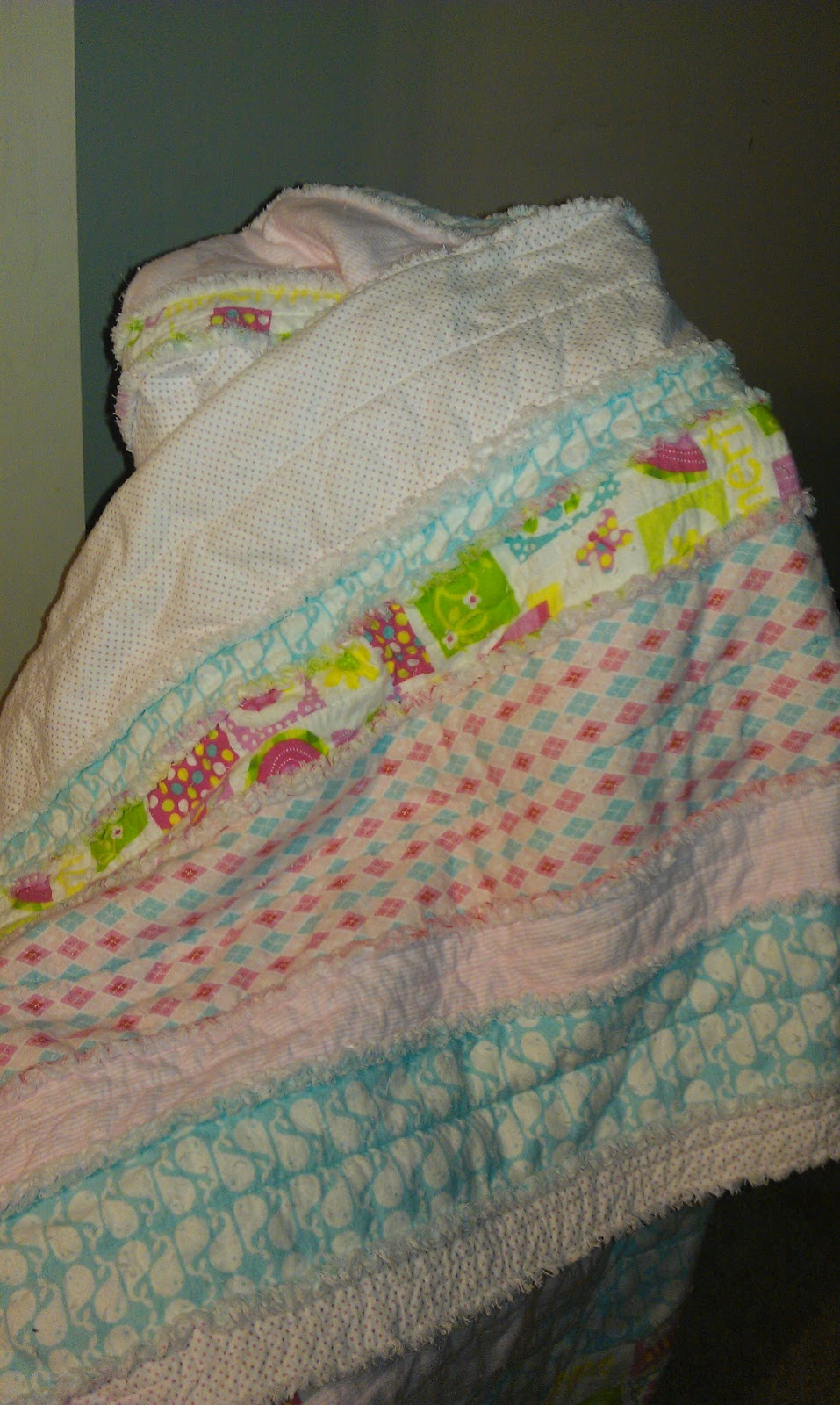 Just Four Sisters Girly Rag Quilt Tutorial