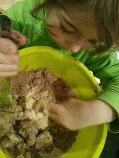 Making Baobab cake