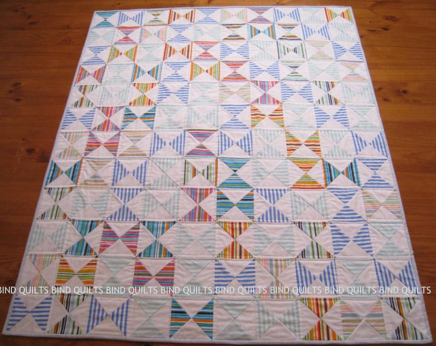 Hourglass stripe quilt