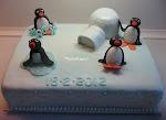 Pingu dåbskage