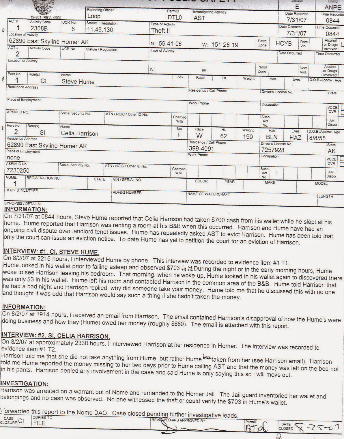 Sample Police Report Documents In Word PDF  Police Report Format Template