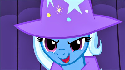 Trixie showing off, as ever