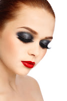 Overdone eye makeup