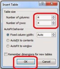 Cara Membuat Tabel Pada Microsoft Office Word 2010