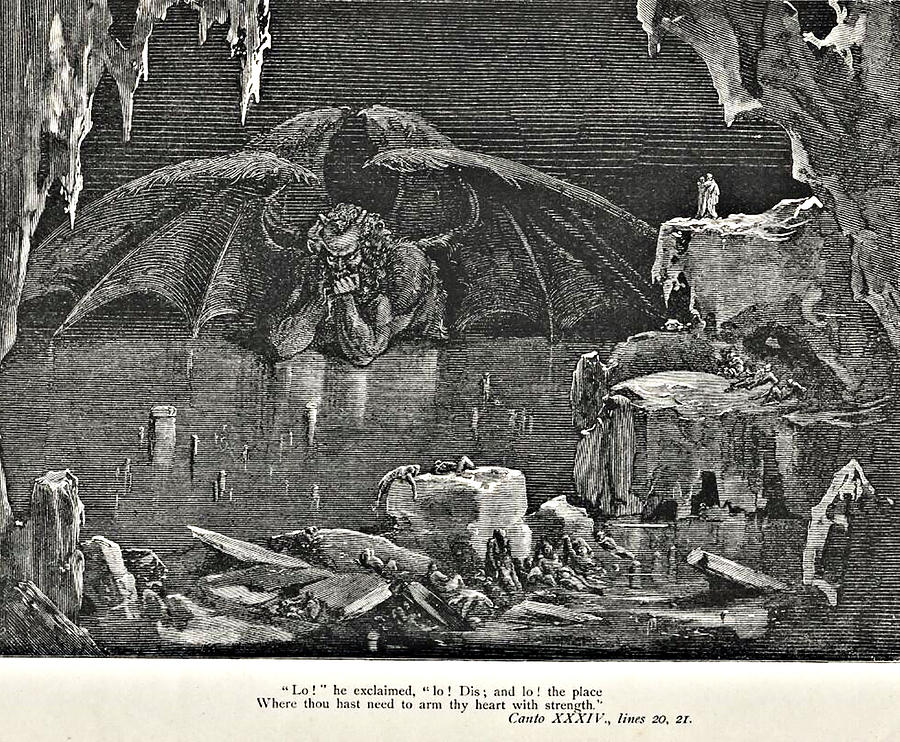 """symbolism in dantes inferno """"here suffer those who did not sin, yet did not have the required portal of our faith their punishment is the denial of paradise"""" — virgil limbo was the first."""