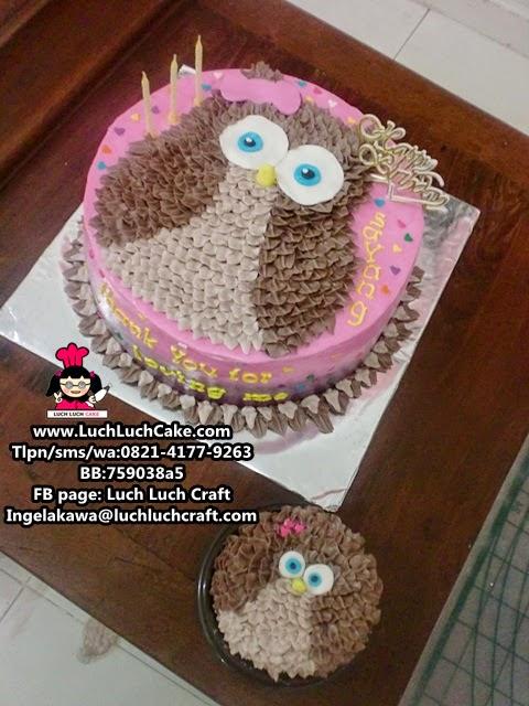 Kue Tart Ulang Tahun Burung Hantu - The Owl Daerah Surabaya - Sidoarjo