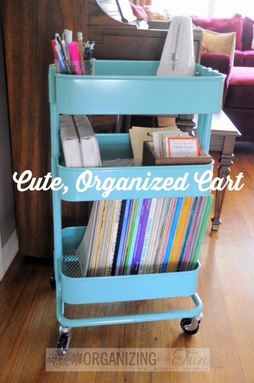 Cute, Organized Ikea Raskög Cart :: OrganizingMadeFun.com