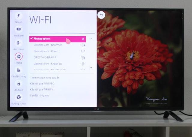 Trên tên Wifi sẽ xuất hiện dấu check thông báo đã kết nối mạng