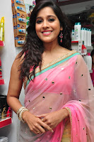 Rashmi Gautam Latest 2016  Stills In Pink Saree (1).JPG