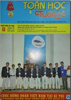 Tạp chí Toán học và Tuổi trẻ số 434 tháng 8 năm 2013, tap chi toan hoc tuoi tre so 434 thang 8 nam 2013