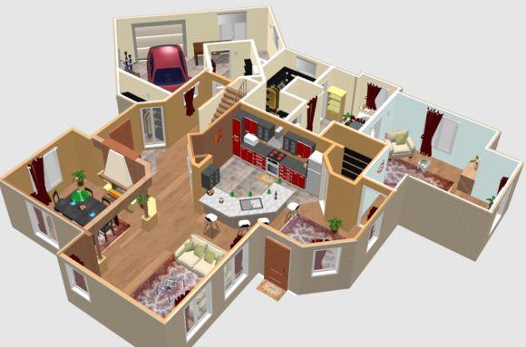 Sweet Home 3D merupakan salah satu software online terbaik untuk desain interior. Mempunyai 2 versi yang online dan versi offline yang bisa didownload. & 10 Software Untuk Desain Interior Terbaik | 10Terbaik.com Software