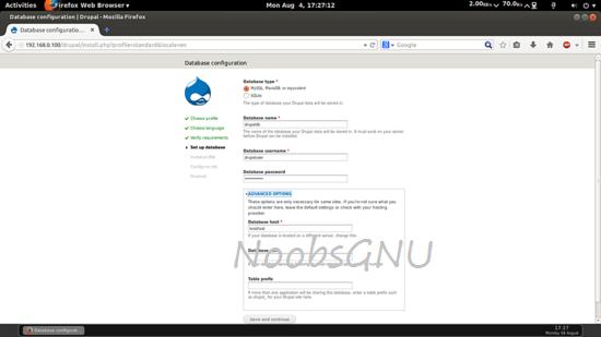 Instalasi dan konfigurasi Drupal pada CentOS 7
