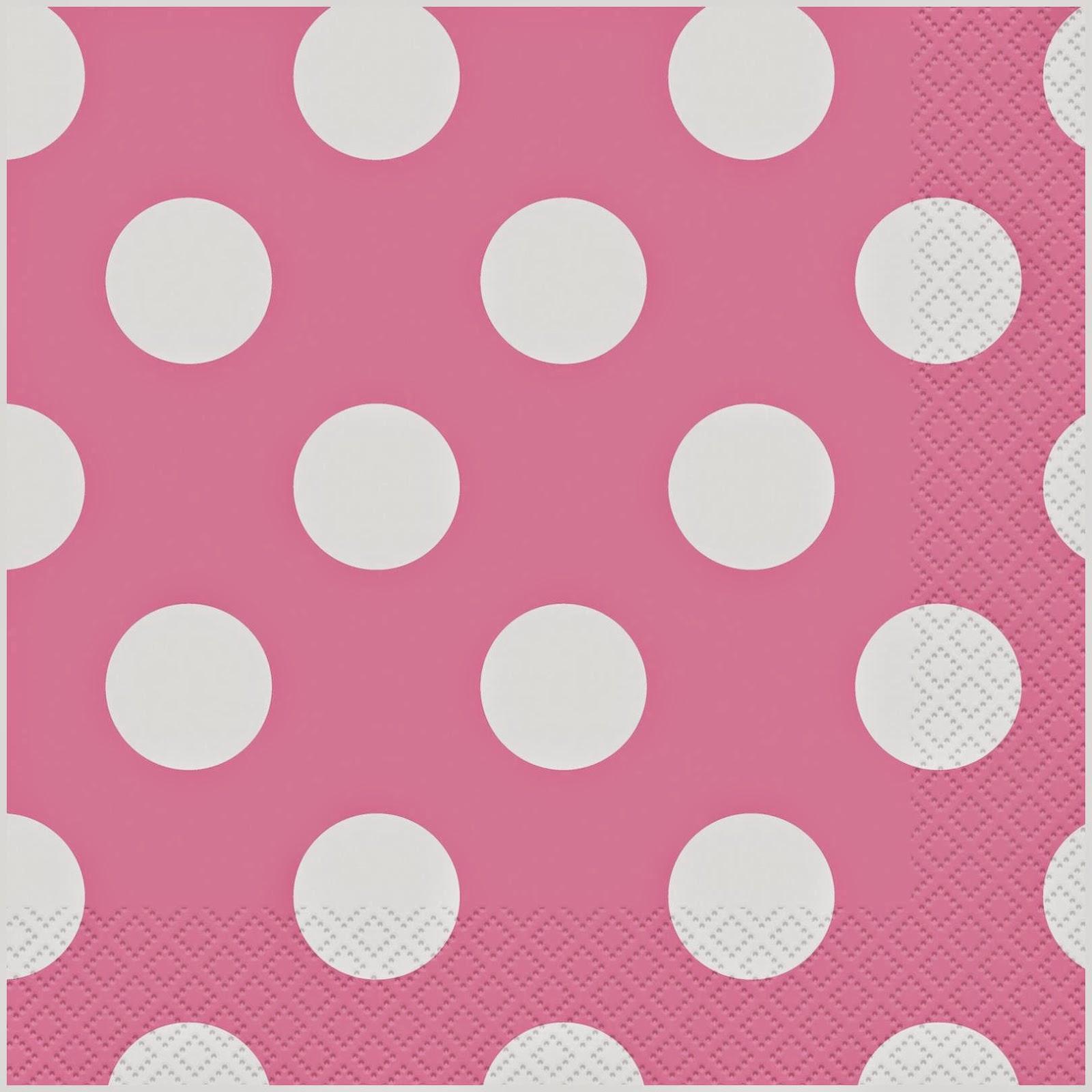 Pink Polka Dots Napkins