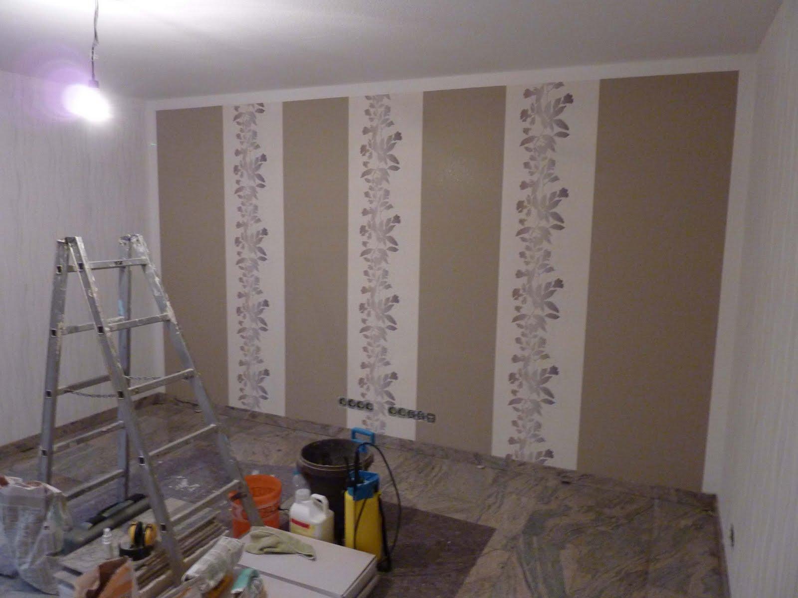 Wohnzimmer Ideen Tapezieren : wohnzimmer fernsehwand ...