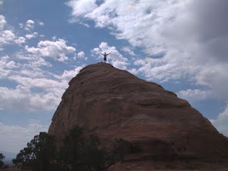 Wes standing atop the Liberty Cap
