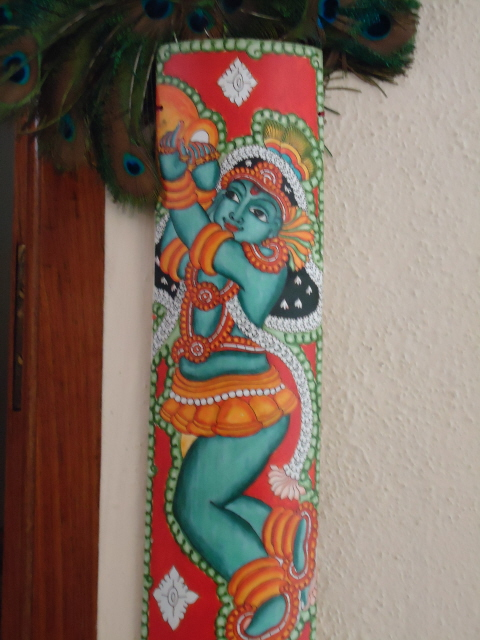Krishna photo arts and crafts for Arts and crafts mural