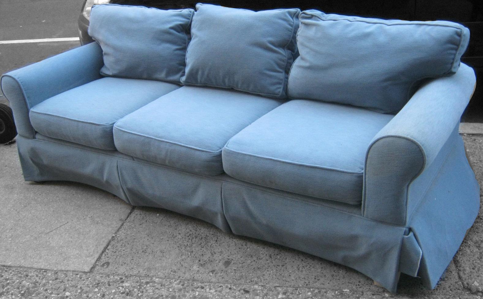 Uhuru Furniture & Collectibles: Light Blue Sofa SOLD