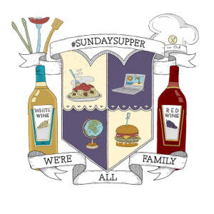 Sunday Supper family crest created at Gallo Family Vineyards
